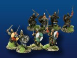 Viking Warriors w/ Swords & Shields (4)